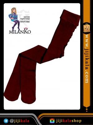 زرشکی جوراب شلواری بچگانه-جوراب شلواری بچگانه ضخیم-جوراب شلواری بچگانه رنگی-جوراب شلواری بچگانه داخل کرکی