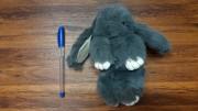 آویز خرگوش لاکچری پشمالو بزرگ