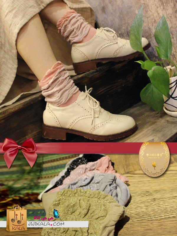 جوراب زری باف بالرین-ساق-پفکی ۲