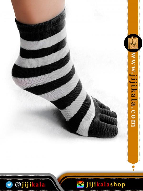 جوراب-انگشتی-راه-راه-درشت۱۰