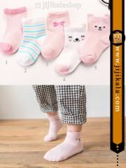 جوراب-بچگانه-گوشدار-صورتی-2