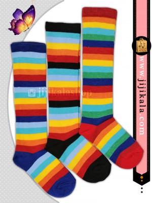جوراب-بلند-رنگین-کمانی-1