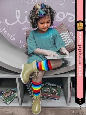 جوراب-بلند-رنگین-کمانی-3
