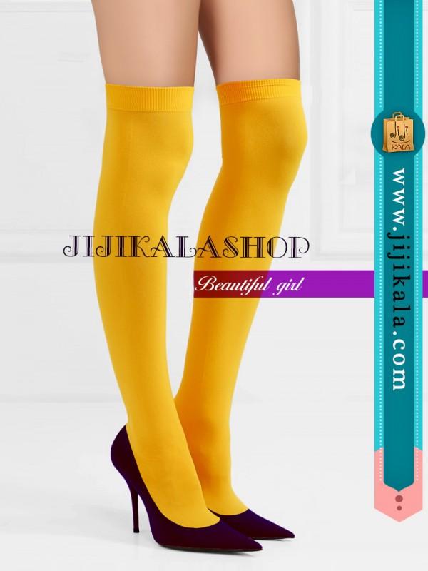 جوراب-بالازانو-زرد-۱