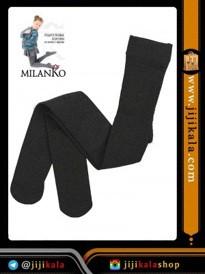 خاکستری تیره جوراب شلواری بچگانه-جوراب شلواری بچگانه ضخیم-جوراب شلواری بچگانه رنگی-جوراب شلواری بچگانه داخل کرکی