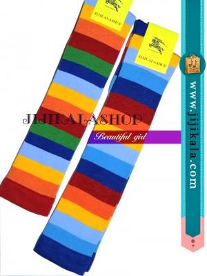 جوراب-بالازانو-رنگارنگ-قرمز-4